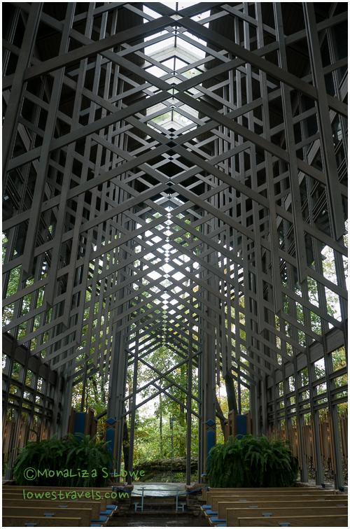 Inside of Thorncrown Chapel