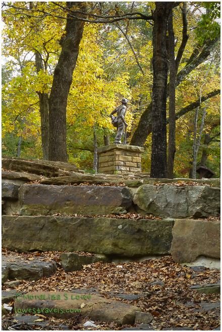 CCC monument, Devils Den State Park