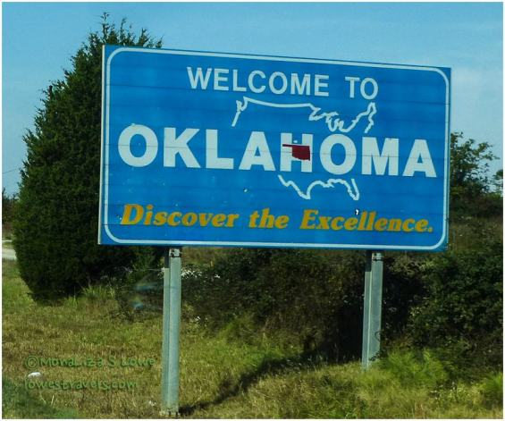 Oklahoma Welcome Sign