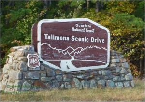 Talimena Scenic Drive Sign