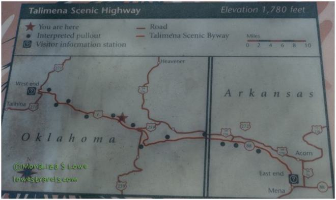 Talimena National Scenic Byway Plaque