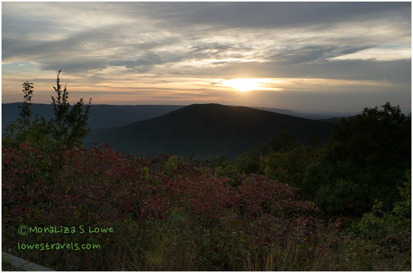 Sunset Vista point , Talimena National Scenic Byway