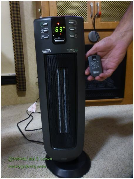My new favorite space heater and its cool little remote