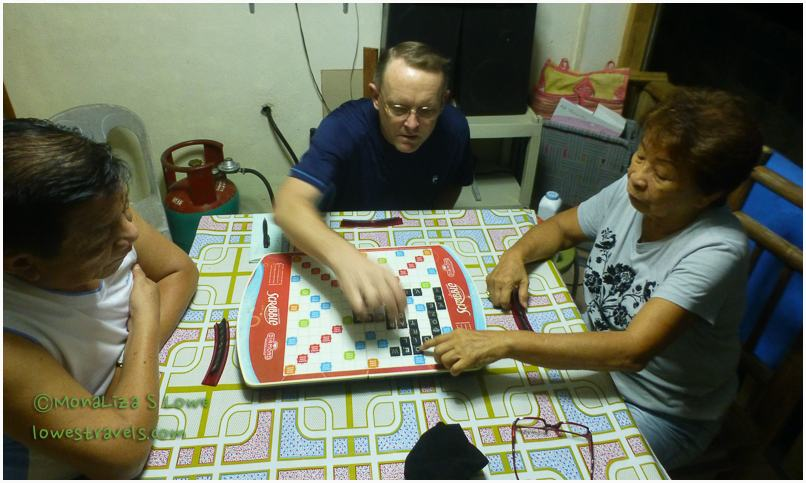 Scrabble with family