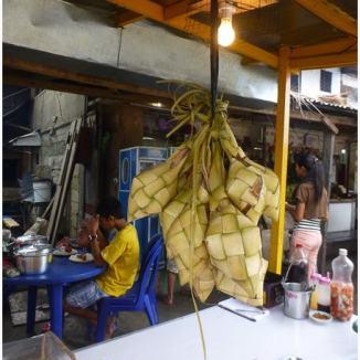 Hanging rice