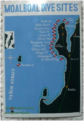 Moaboal Dive Sites