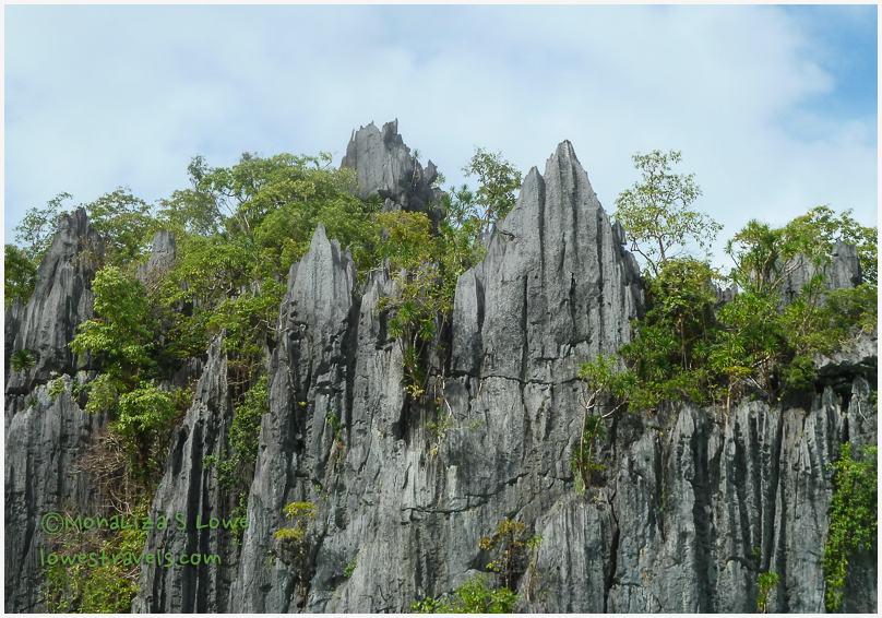 Limestone cliffs