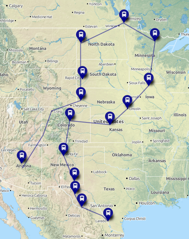 Planned 2015 Route