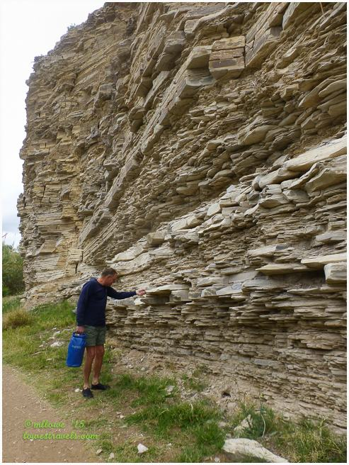 Stratified Limestone Rock