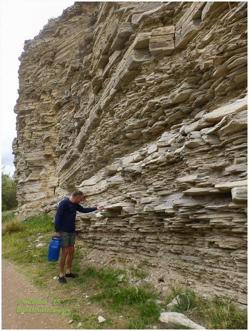 Stratified Limestone Rock