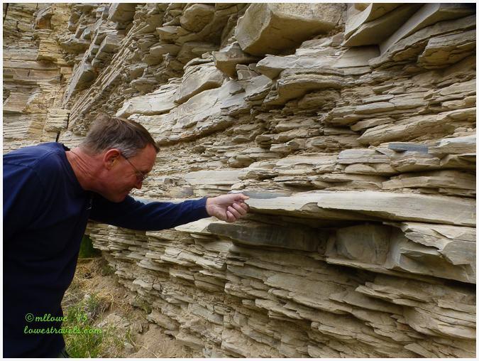 Limestone rock layers