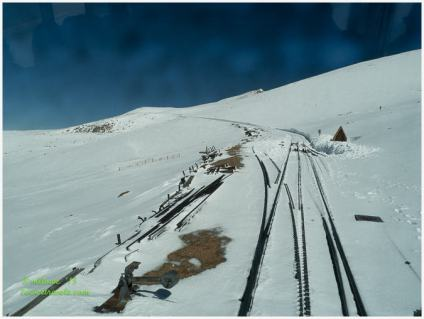 Tracks to the summit