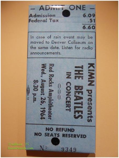 Ticket cost in 1964