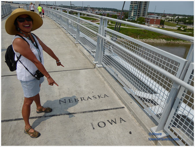 Bob Kerry Pedestrian Bridge in two states
