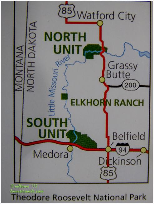 Theodore Roosevelt NP Map