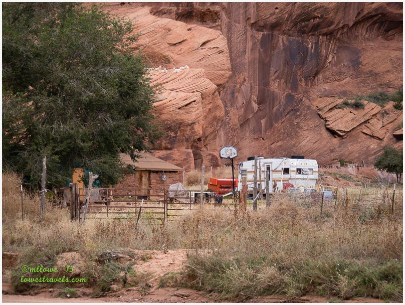 Navajo home inside Canyon de Chelly