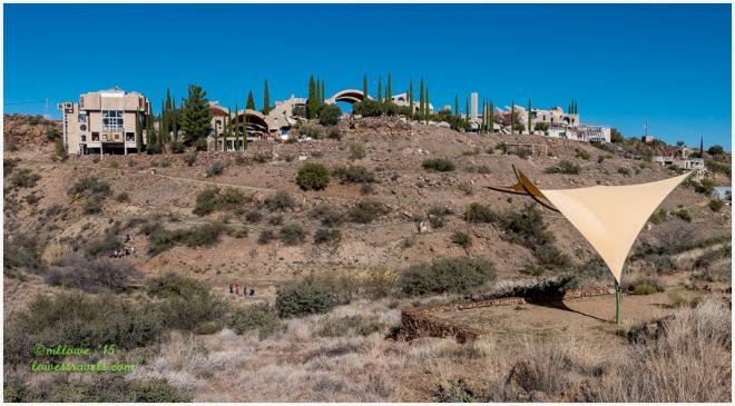 Arcosanti viewed from the hill
