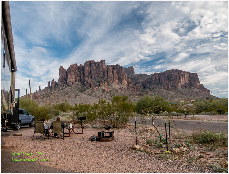 Lost Dutchman State Park, Site 44- Superstition Mountains