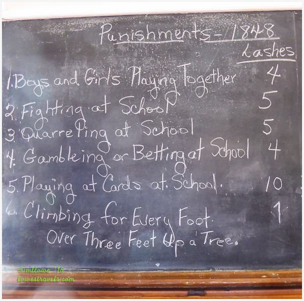 Student punishments in 1848