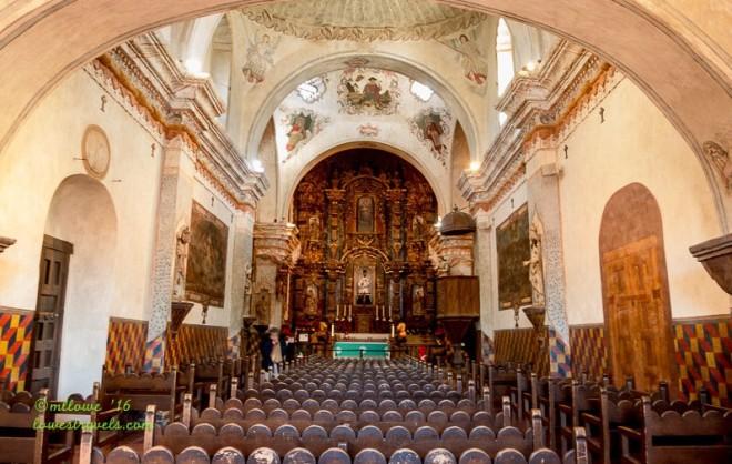 Interior of Mission San Xavier del Bac