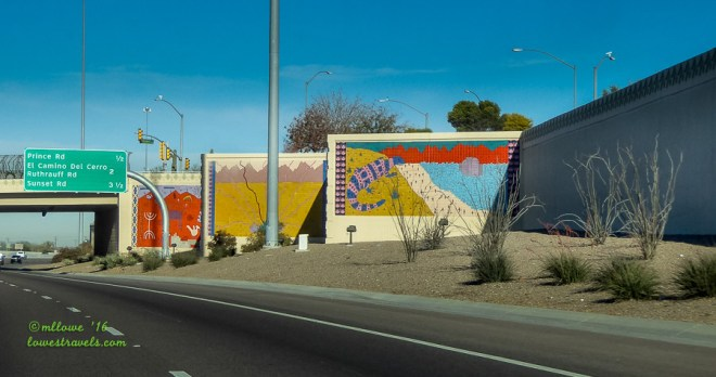 Murals on Miracle Mile Exit