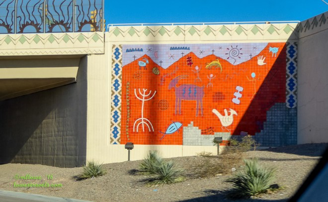 Miracle Mile Exit Mural Westbound