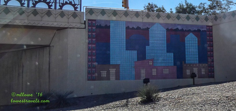 Mosaic tile on eastbound I-10 at Miracle Mile