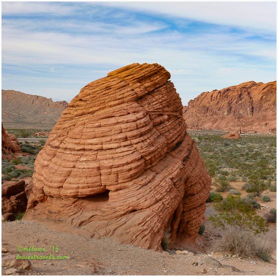 Beehive Formation cross bedded rock