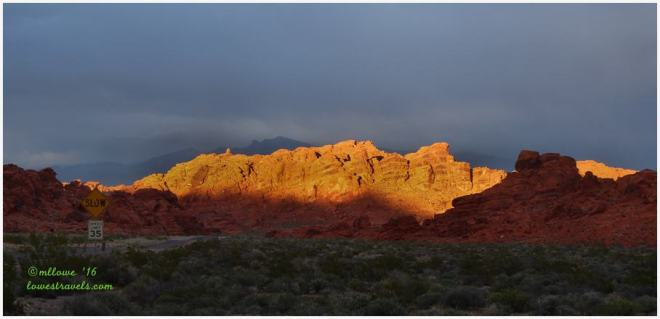 Sunset at Valley of Fire