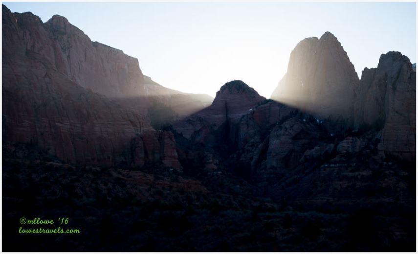 Sunrise at Kolob Canyons