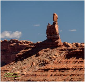 Facing north - A balanced rock!