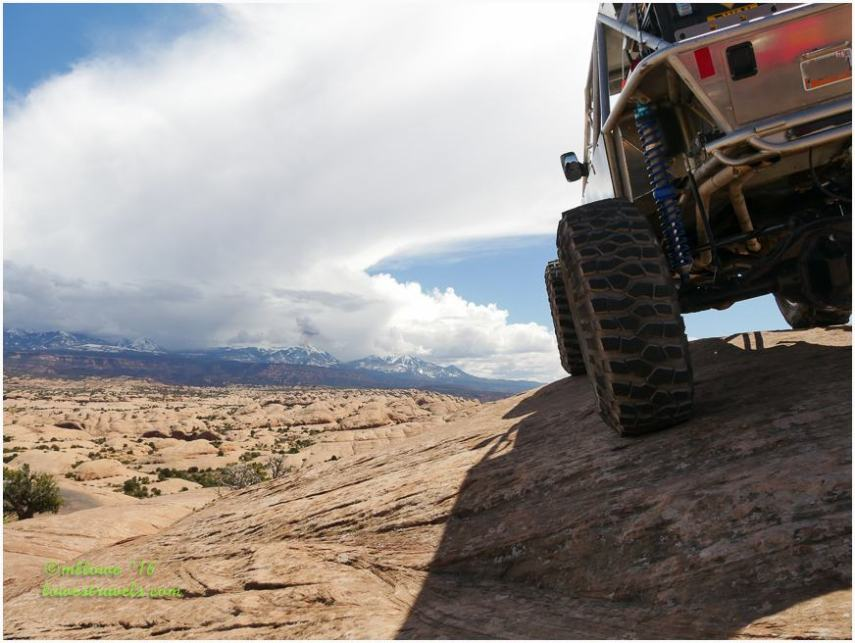 Moab four wheeling trail