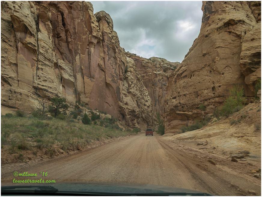 Capitol Gorge Spur road