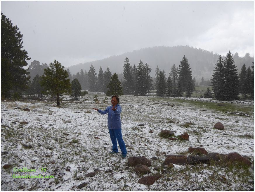Snow showers in May