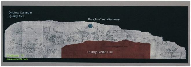 Fossil Quarry Exhibit Hall Map