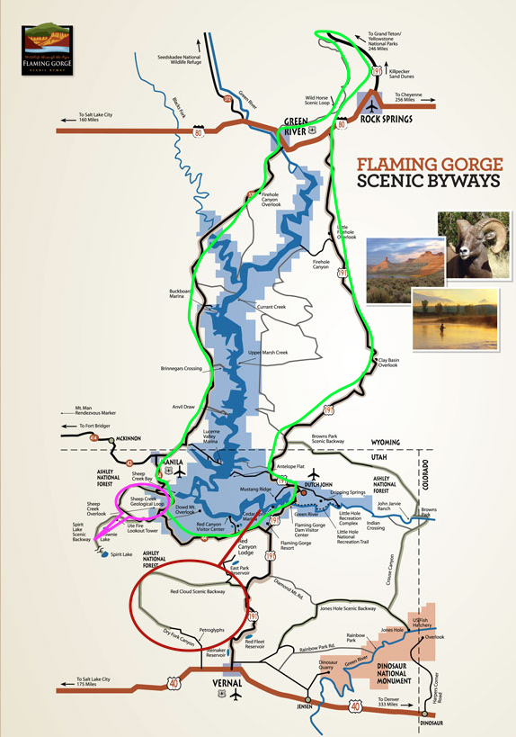 Flaming Gorge byways