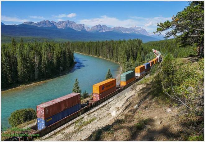 Canadian Railway along the rockies