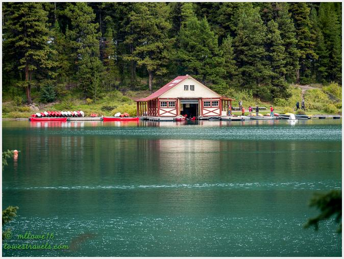 Curly Philips Boathouse, Maligne Lake