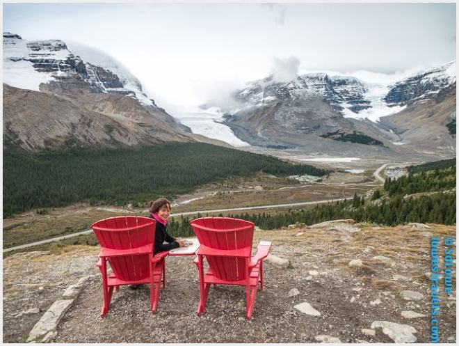 Red Chair in Icefield Parkway