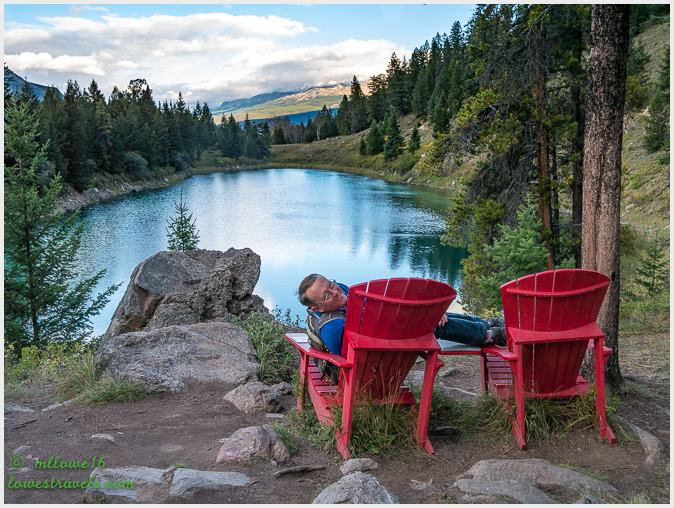 Red Chair at Valley of Five Lakes