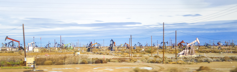 Oilfields at Lost Hills, California