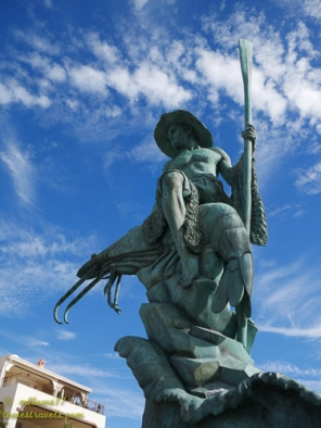 The Shrimpman-symbol of what Puerto Penasco is known for