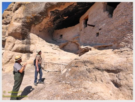 A ranger describes the cave dwellings