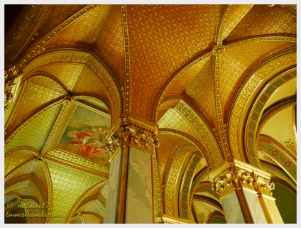 The ceilings are inlaid with 22K gold