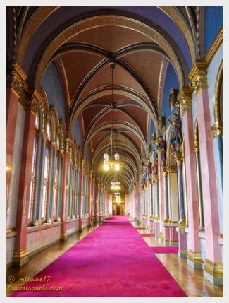 Pink hallway