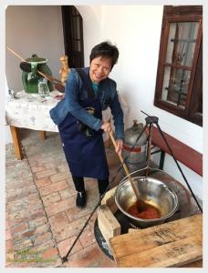 Of course I stepped up to stir the goulash!