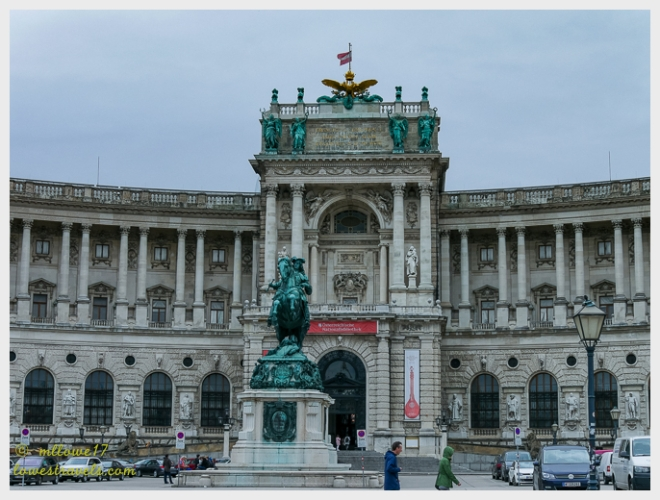 Hofburg Neue Burg section, seen from Heldenplatz
