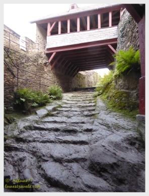 Knights stairway made from slate