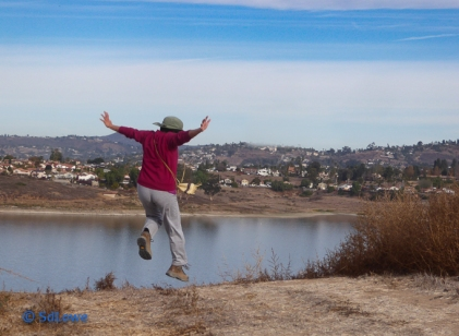 Jumping into Sweetwater Reservoir