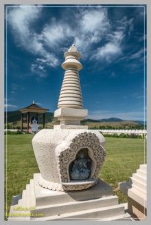 In each stupa is an image of Tara